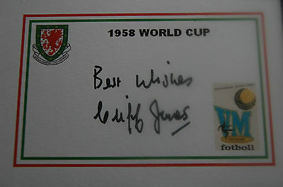 Wales 1958 World Cup Designed Card Signed Cliff Jones
