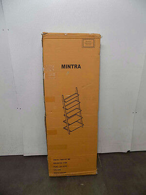 Mintra 5 Tier Leaning Ladder Book Shelf, White