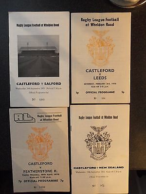 4 Castleford Rugby League Programmes  70S