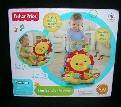 Fisher Price Musical LION WALKER Activity Toddler Baby Development Toy NEW