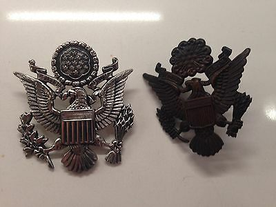 WW1 U.S. Army Cap Badge X 2 Nice