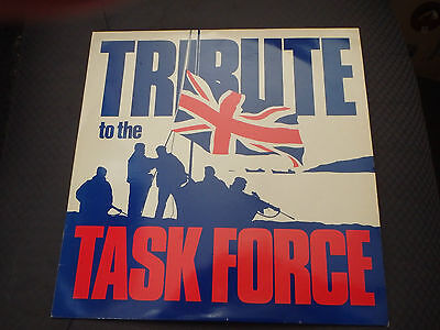 TRIBUTE TO THE TASK FORCE 1982 SAS Hereford Vinyl LP HM Royal Marines Band EX