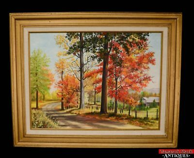 """Original Artist Signed Ople Marquardt Oil Painting """"September to Remember"""" L5X"""