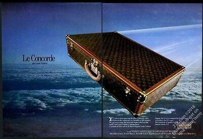 1980 Louis Vuitton luggage suitcase flying color photo vintage print ad