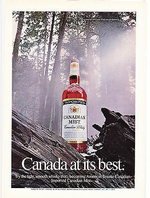 Original Print Ad-1973 IMPORTED CANADIAN MIST-CANADA AT ITS BEST-Misty Forest