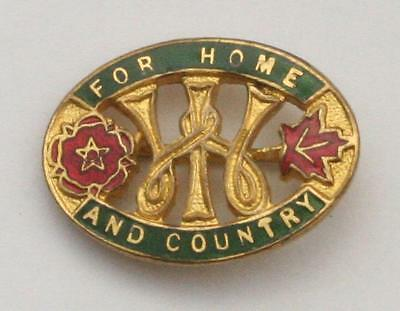 Antique Vintage WI For Home and Country Enamel Pin Badge