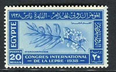 EGYPT;  1938 Leprosy Research issue fine Mint hinged 20m. value