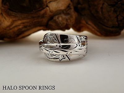 Victorian Scottish Solid Silver Spoon Ring Glasgow 1892 *** Last One!!! ***