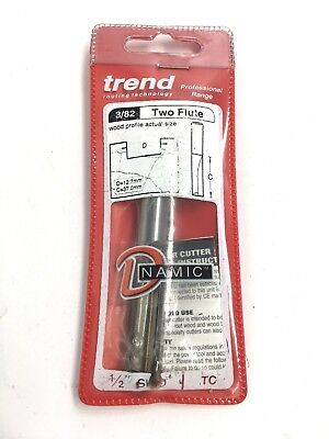 Trend 3/82 x 1/2 12.7mm TCT Two Flute Cutter