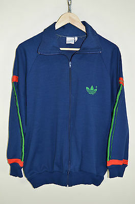 vtg 70s 80s ADIDAS OVERSIZED CASUALS RETRO TRACK JACKET TRACKSUIT TOP SIZE M