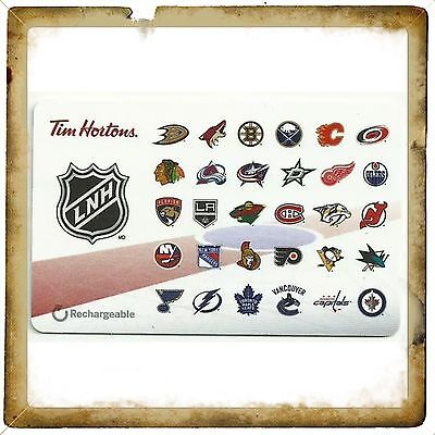 NHL Teams Logo Tim Hortons Collectible Gift Card #9