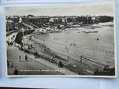 THE BEACH SWIMMERS PICKIE POOL HOUSES CROWDS Co Down REAL PHOTO 2182061930,S