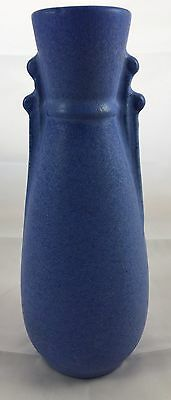 Antique Niloak Pottery Arts And Crafts Blue Tall Flower Vase