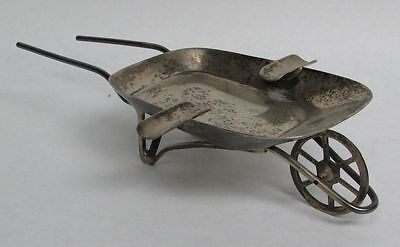 Unique Mexico Sterling Silver Vintage Maciel Wheel Barrel Ash Tray
