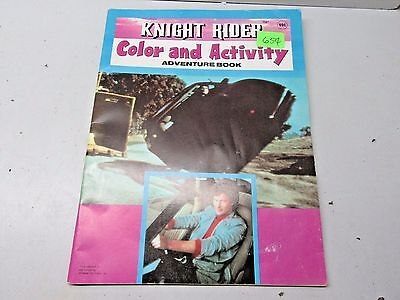 Vintage 1983 Knight Rider Color and Activity AdventureColoring Book - NEW Unused
