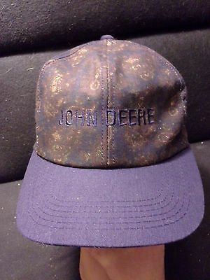 Rare Vintage John Deere Snapback Hat Cap Paisley Made in USA