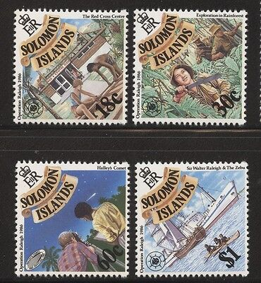 Solomon Islands 1986 Operation Raleigh set Sc# 558-61 NH