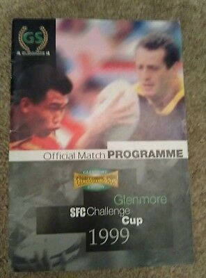 Glenmore SFC Rugby Challenge Cup Programne 1999 Shanghai