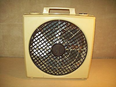 Vintage~Northernaire~Box Fan~3 Speed~Metal Blades~Works Great~Rotating Front~18""