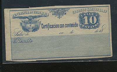 Colombia  Insured  stamp   G10  mint   NH         EX0402