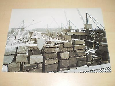 1920s Photograph Of Construction+Cranes On Liverpool Cathedral Modern Print Off