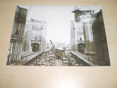 1920s Photograph Of Construction On Liverpool Cathedral Modern Print Off Negativ
