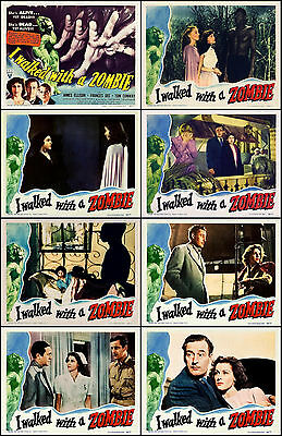 I WALKED WITH A ZOMBIE Complete Set OF 8 Individual 11x14 LC Prints 1943