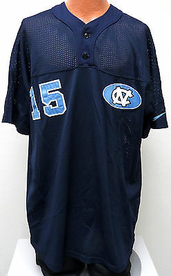 vtg Nike UNC BASEBALL #15 Team Issue JERSEY 2XL 90s North Carolina Tar Heels usa