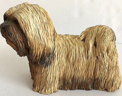 Lhasa Apso Resin Dog Figurine Signed Brileyco Inc High Point 1985 USA