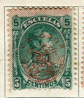 VENEZUELA;  1893 early classic Optd. issue Inland 5c. Mint hinged value