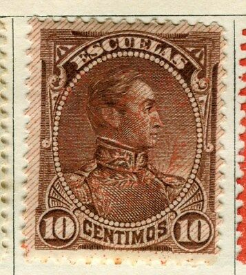 VENEZUELA;  1893 early classic Optd. issue Inland 10c. Mint hinged value