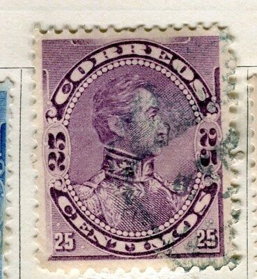 VENEZUELA;  1893 early classic  issue Foreign Post 25c. used value