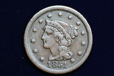 1851 Large Cent, Very Nice Coin!!!
