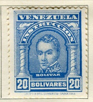 VENEZUELA;  1911 early Portraits issue Mint hinged 20B. value