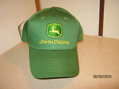 new John Deere Ball Cap Green Embroidered Logo Adult Adjustable Farming Hat Trac