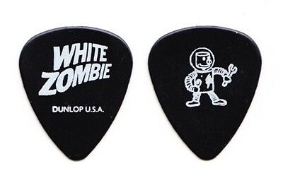 Rob Zombie White Zombie Jay Yuenger Spaceman Black Guitar Pick - 1995 Tour