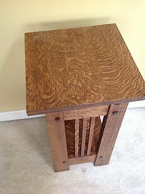 Quarter sawn White Oak Mission Table Or Stand /end Table