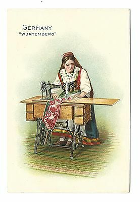 Old Trade Card Singer Sewing Machine Co Germany Wurthemberg