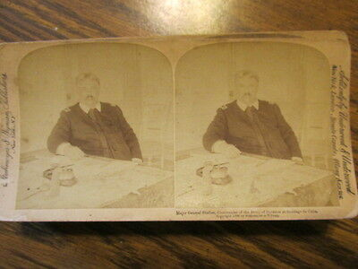 Major General Shafter 1898 STEREO VIEW CARD STEREOVIEW