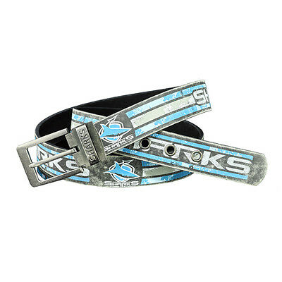 Cronulla Sharks NRL Distressed Gameday Leather Belt