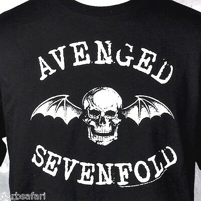 Avenged Sevenfold A7X Winged Skull Band T-shirt Large L Licensed 2005 Metalcore