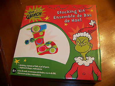 The Grinch Dr. Seuss Stocking Kit  2010 Colorbok New Sealed