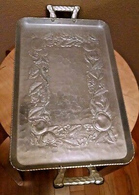 Vintage EVERLAST Hand Forged Hammered Retro Mid-Century Aluminum Tray #1052