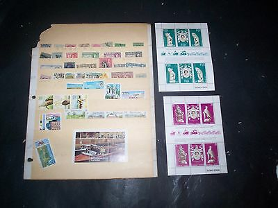British Colonies Great Lot of Stamps and Souvenir Sheets Some Mint