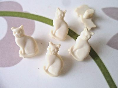 36pcs Novelty Theme Cute Cat Button Doll Kid Craft Cardmaking Cream