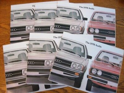 1978 Audi Dealer Sales Brochure LOT (6) pcs, 5000 Fox MINT