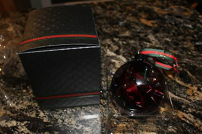 New 2013 Gucci Parfums Glass Decorative Christmas Tree Ornament Ball