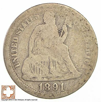 1891 Seated Liberty Silver Dime *2697
