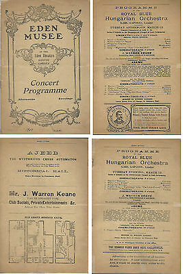 Magician J. Warren Keane & Ajeeb-Eden Musee-NYC-1907-Private Booking-FINE-Oh