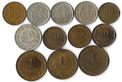 Angola Lot Of 12 Coins